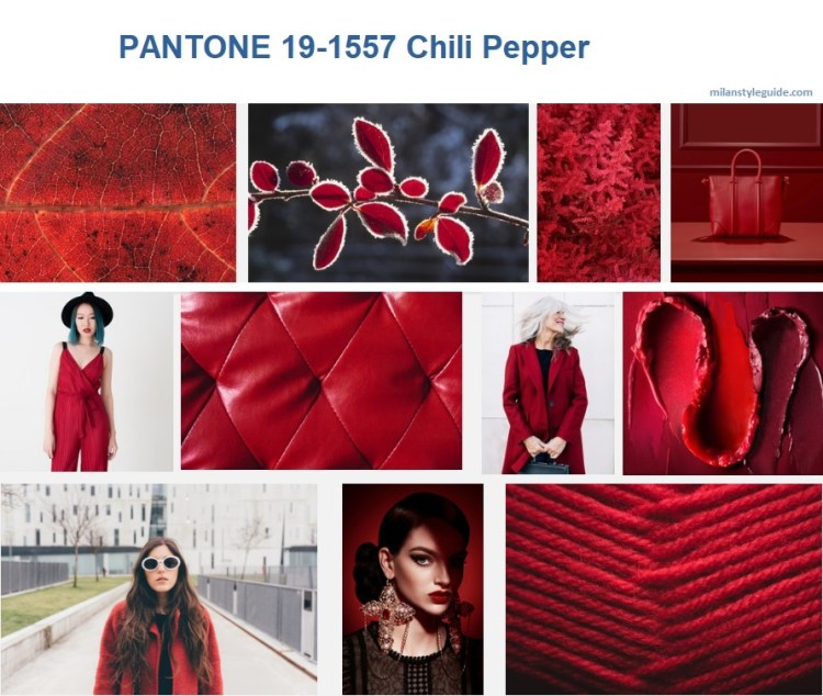 PANTONE 19-1557 Chili Pepper модный цвет осень зима 2019/2010