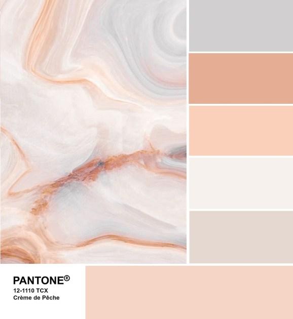 Pantone 12-1110 Crème de Pêche palette