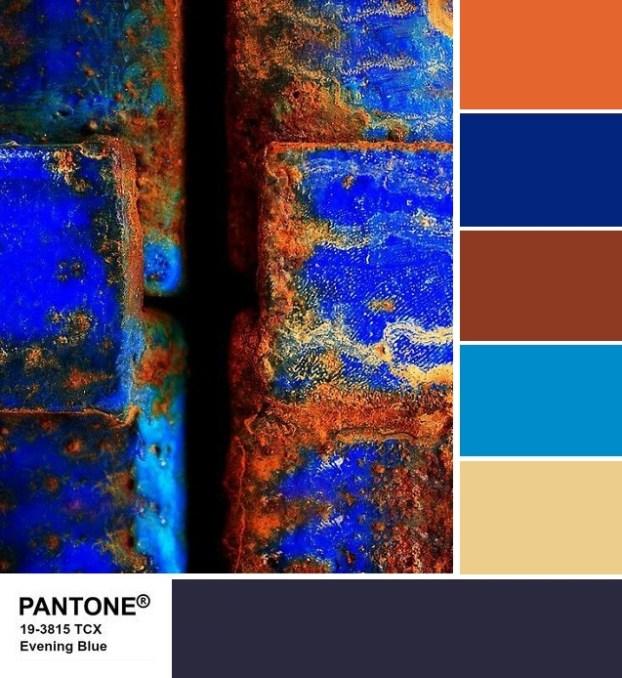 Pantone 19-3815 Evening Blue palette