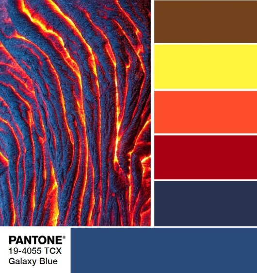 Pantone 19-4055 Galaxy Blue Palette