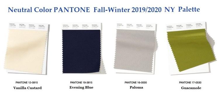 Pantone top classic color Fall winter 2019 2020