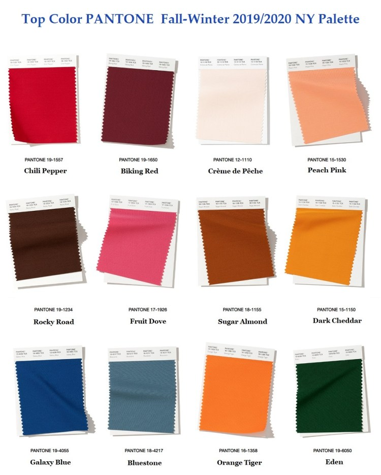 Pantone top fashion color Fall winter 2019 2020