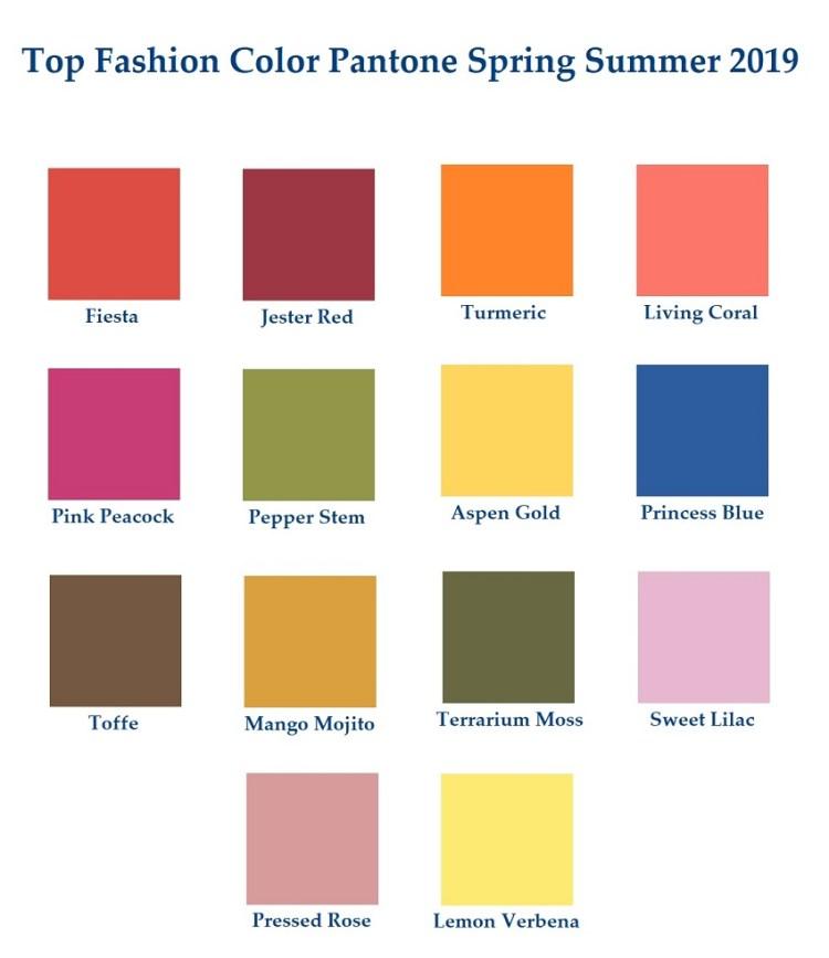 Fashion color trend 2019 #Pantone какие цвета в моде 2019 - модная цветная палитра пантон