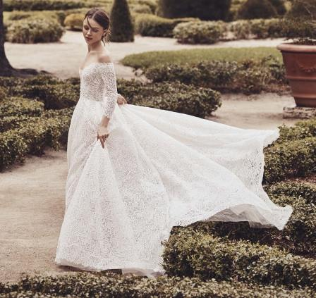 модное кружевное свадебное платье 2020