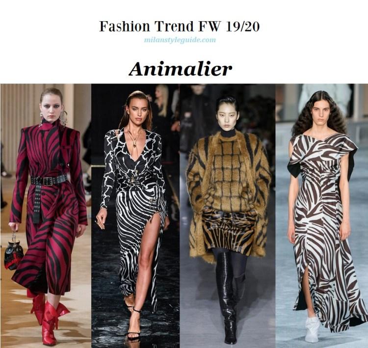 Fashion trend fall winter 2019-2020 Animalier