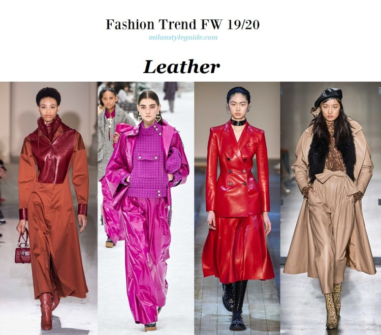 Fashion trend fall winter 2019-2020 Leather