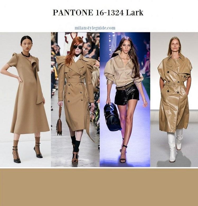 модные цвета весна лето 2020 Color trend SS 2020 PANTONE 16 1324 Lark