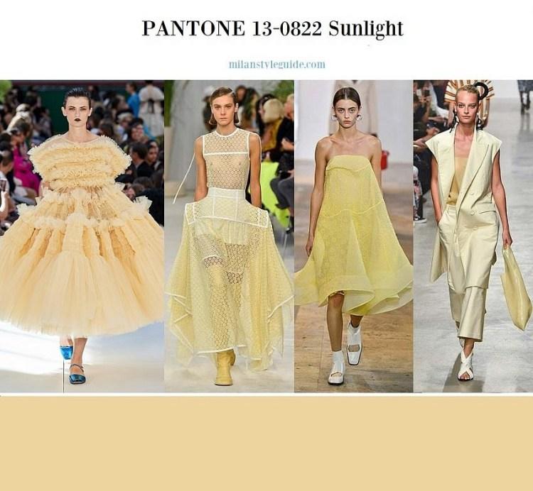 модные цвета лето весна 2020 PANTONE 13-0822 Sunlight
