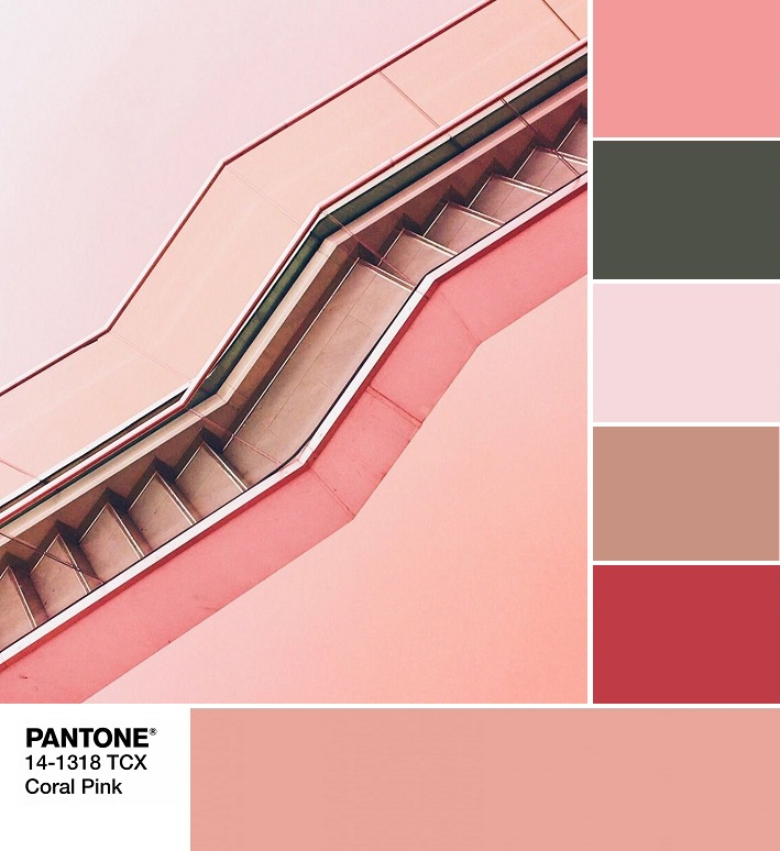 модные цвета весны и лета 2020 PANTONE 14-1318 Coral Pink