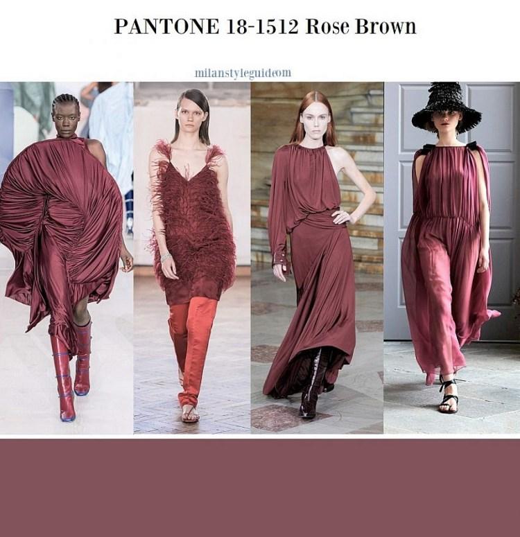 модный цвет весна лето 2020 PANTONE 18-1512 Rose Brown