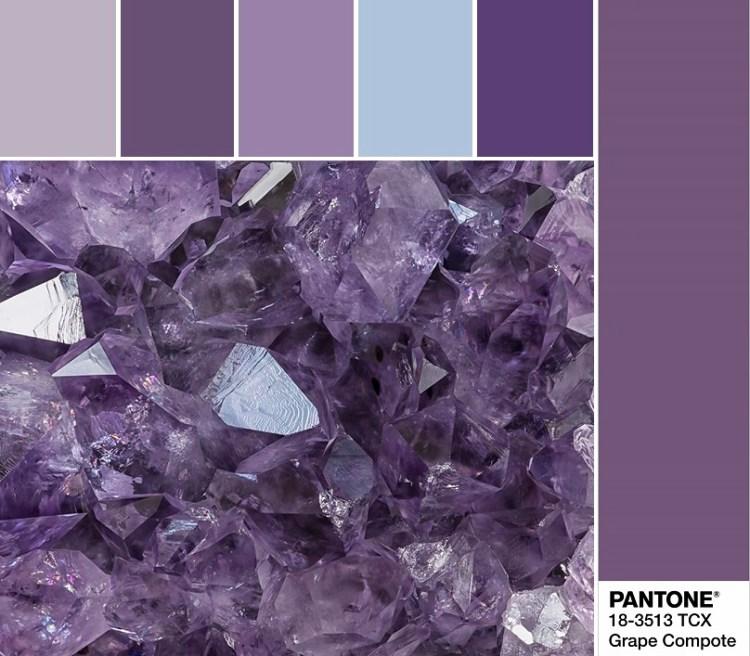 модные цвета весны и лета 2020 Pantone 18-3513 Grape Compote