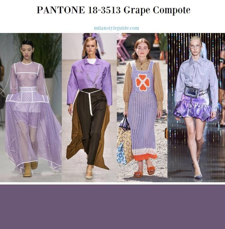 PANTONE 18-3513 Grape Compote