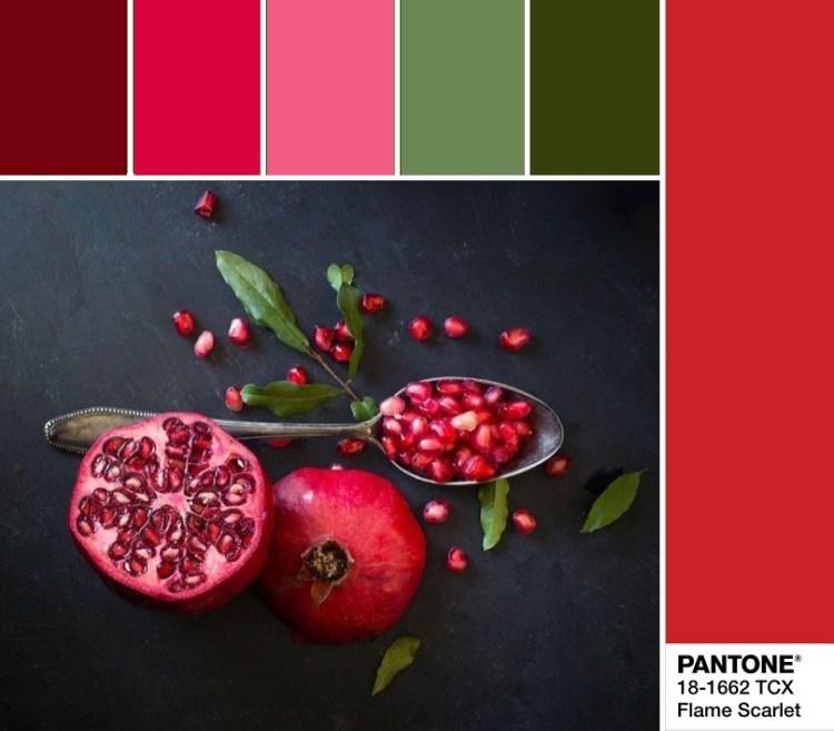 модные цвета весны и лета 2020 Pantone 18-1662 Flame Scarlet