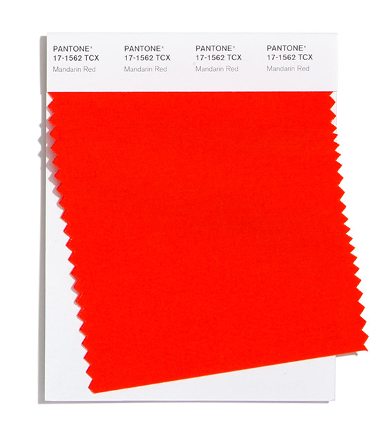 Pantone Fashion Color Trend Report London Autumn Winter 2021 Mandarin Red