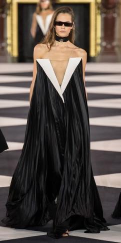 плиссе платье Balmain 2020