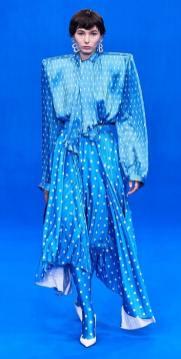 плиссе платье юбка Balenciaga 2020