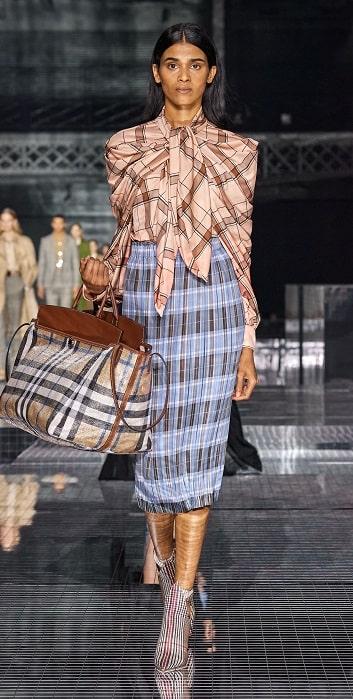 юбка плиссе burberry мода осень зима 2020