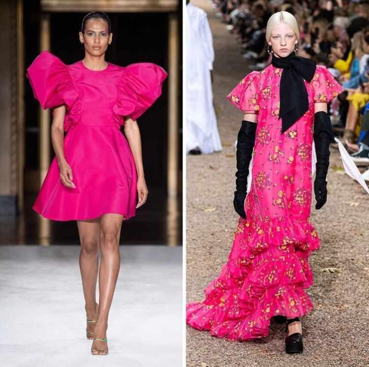 млдные платья 2020 цвет мажента