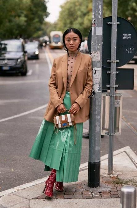 модная ассиметричная юбка плиссе