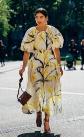 Модное платье в цветочек лето 2020