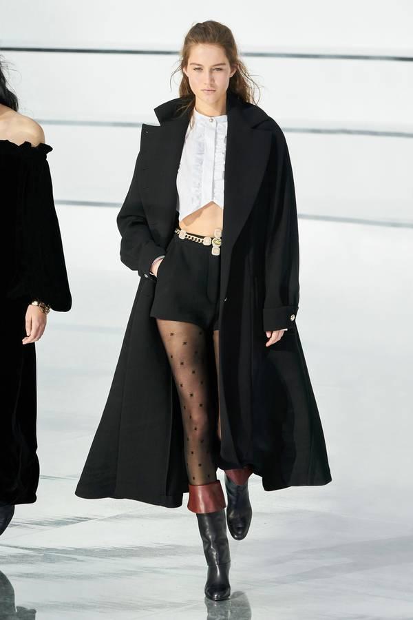 модное черное пальто Chanel 2020 2021