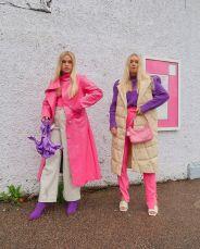 как стильно носить розовое и сиреневое 2021