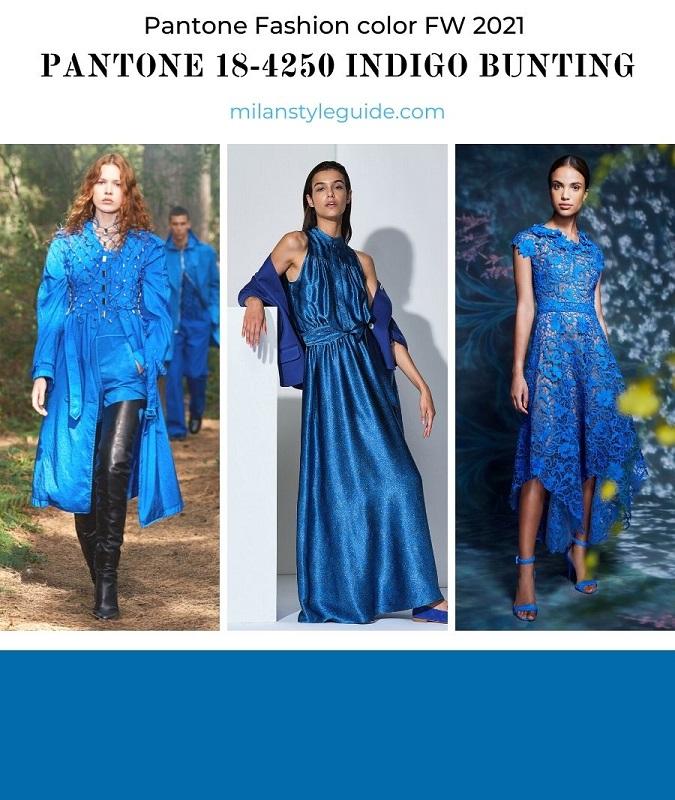 PANTONE 18-4250 Indigo Bunting - Индиго овсянка
