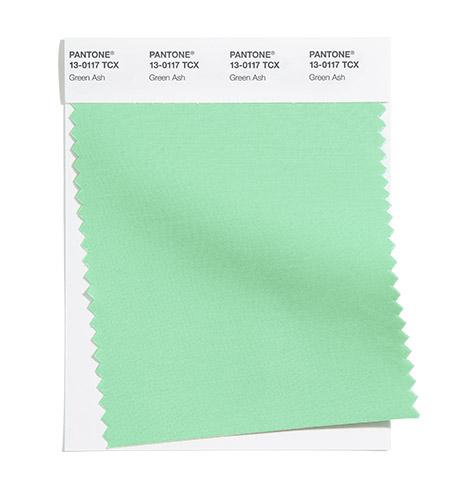 модные цвета пантон лето 2021 PANTONE 13-0117 Green Ash - Зеленый ясень