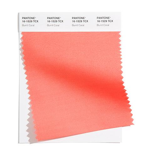 модные цвета пантон лето 2021 PANTONE 16-1529 Burnt Coral - Жженый Коралл