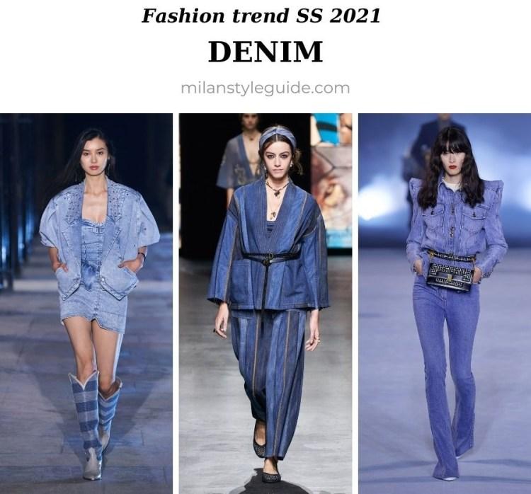 модный тренд весна лето 2021 джинса и деним