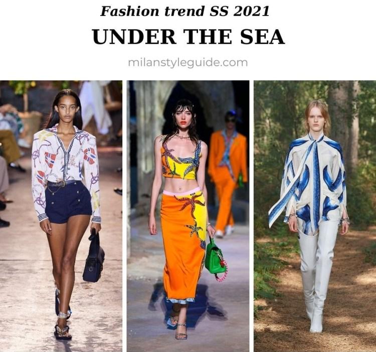 модный тренд весна лето 2021 морские принты