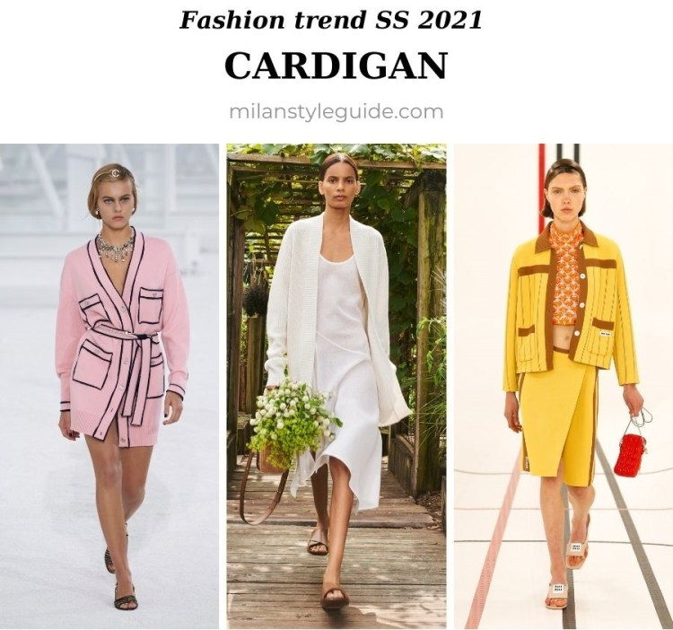 модный тренд весна лето 2021 кардиган