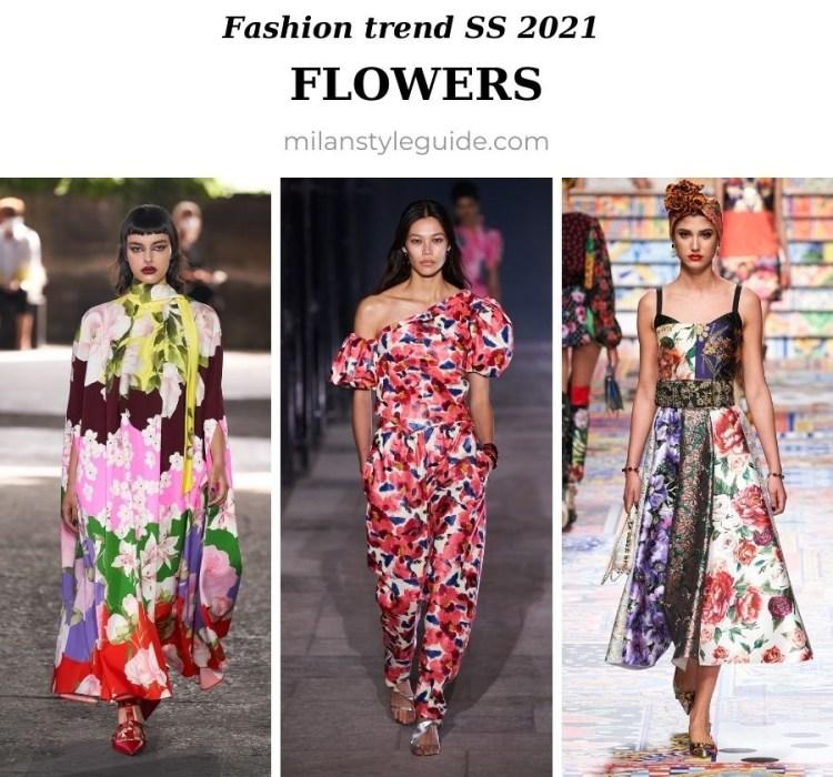 модный тренд весна лето 2021 цветы платья в цветочек