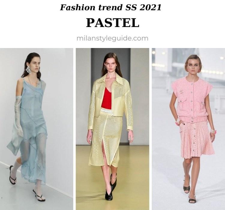 модный тренд весна лето 2021 пастельные цвета