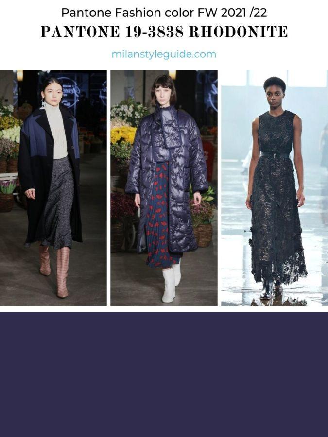 модный сиреневый цвет осень-зима 2021-2022 в одежде
