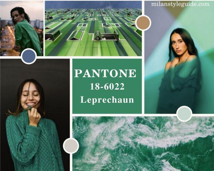 модный зеленый цвет осень зима 2021-2022