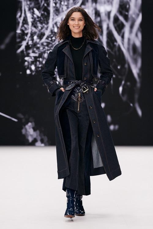 Модные пальто 2021 2022 тренд пальто из джинсы