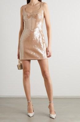 модные блестящие платья 2021 года - тренд блеск и пайетки