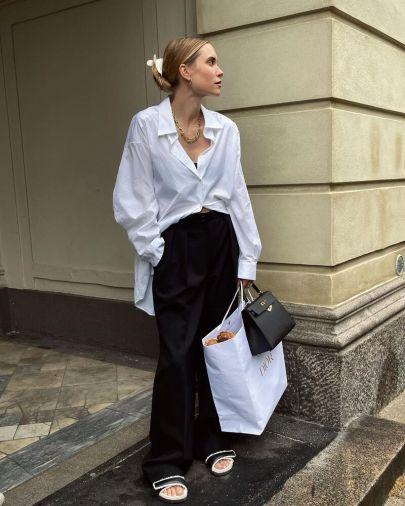 белая рубашка тренд осень 2021 2022