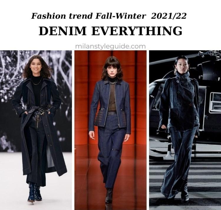 модный тренд осень зима 2021 2022 джинсы и деним