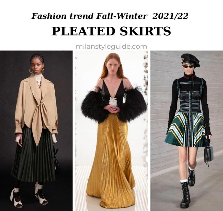 модный тренд осень зима 2021 2022 плиссе