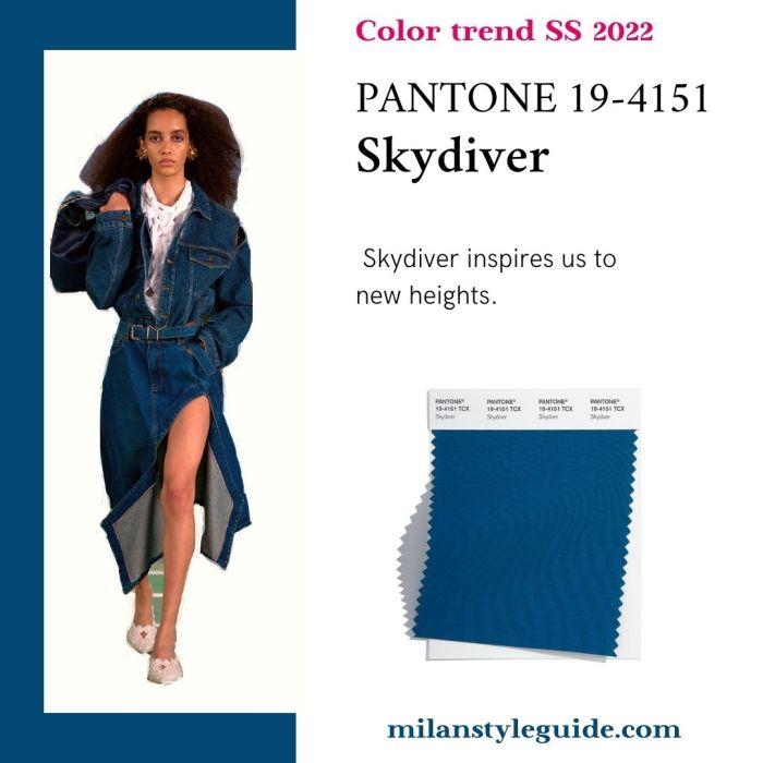 PANTONE 19-4151 Skydiver - Парашютист
