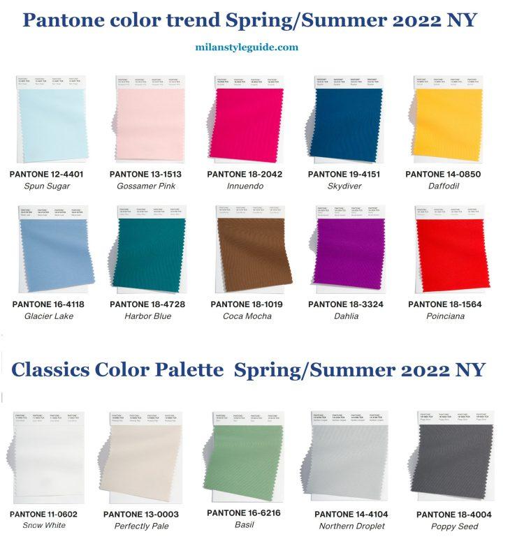 модные цвета весна лето Пантон палитра