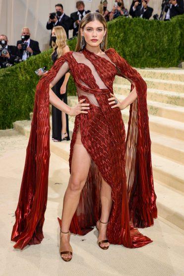 Valentina Sampaio in Iris Van Herpen Couture at Met Gala 2021