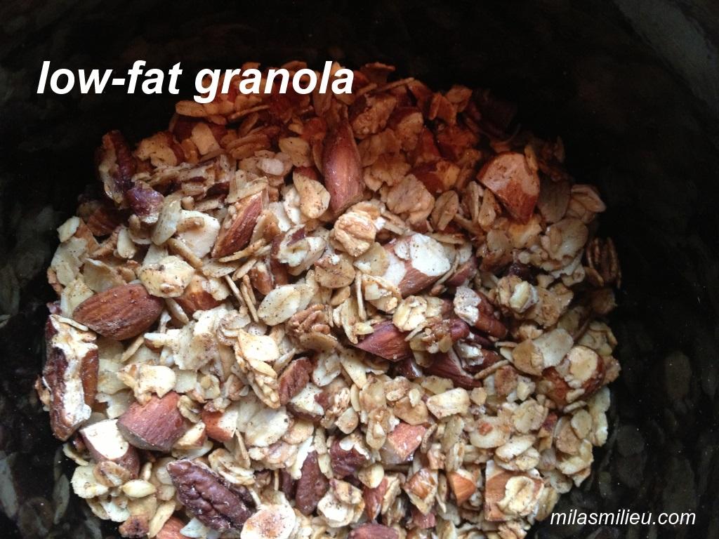 low-fat easy granola
