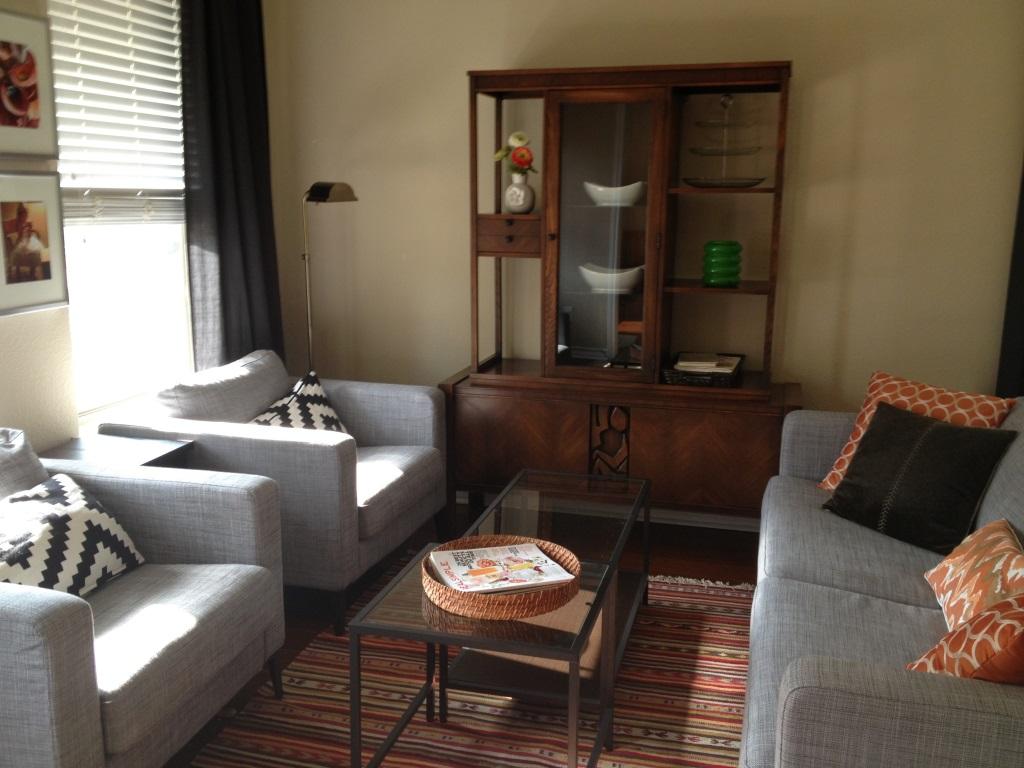 Ikea Karlstad sofa sitting room