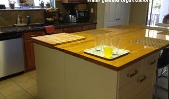 Water glasses organization