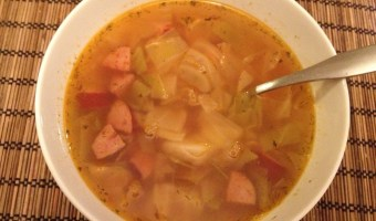 Light easy cabbage soup