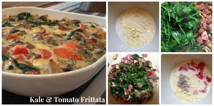 Kale and tomato frittata