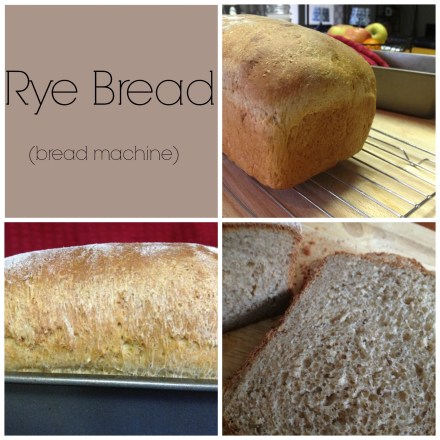 Rye Bread from a bread machine